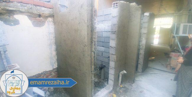 ساخت سرویس بهداشتی و حمام در بلوار بسیج آمل