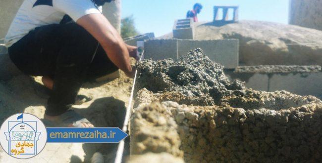 ساخت سرویس بهداشتی در منطقه اورکی سیستان و بلوچستان