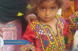 برگزاری برنامه های فرهنگی و دادن هدیه به کودکان مناطق سیل زده سیستان و بلوچستان